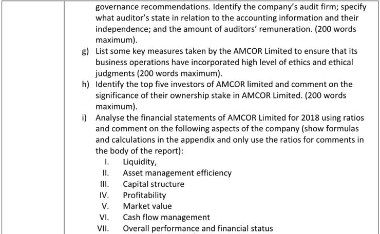 Annual Report of Amcor Limited