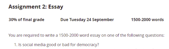 Essay Assignment Answer