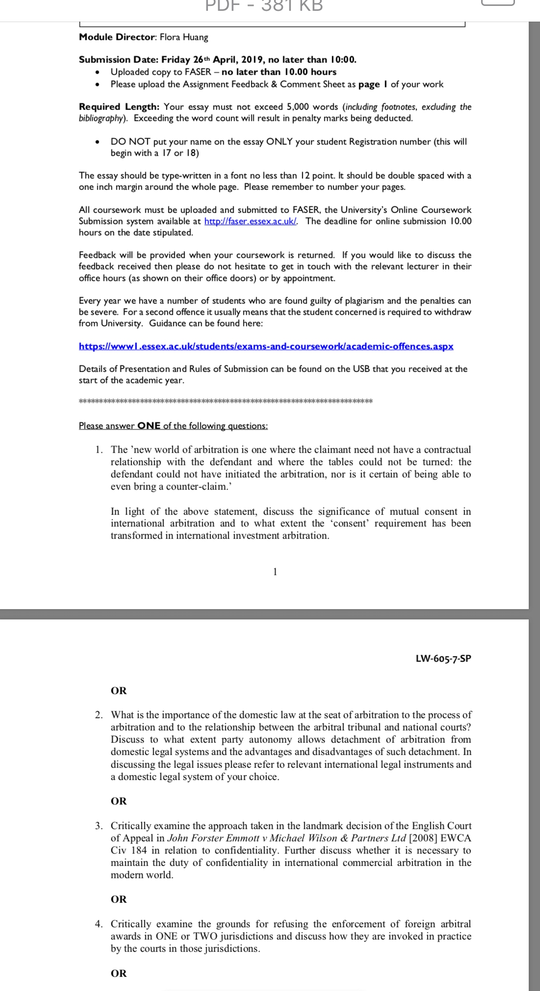 LW6057 - Importance Of Domestic Law - Significance Of Mutual