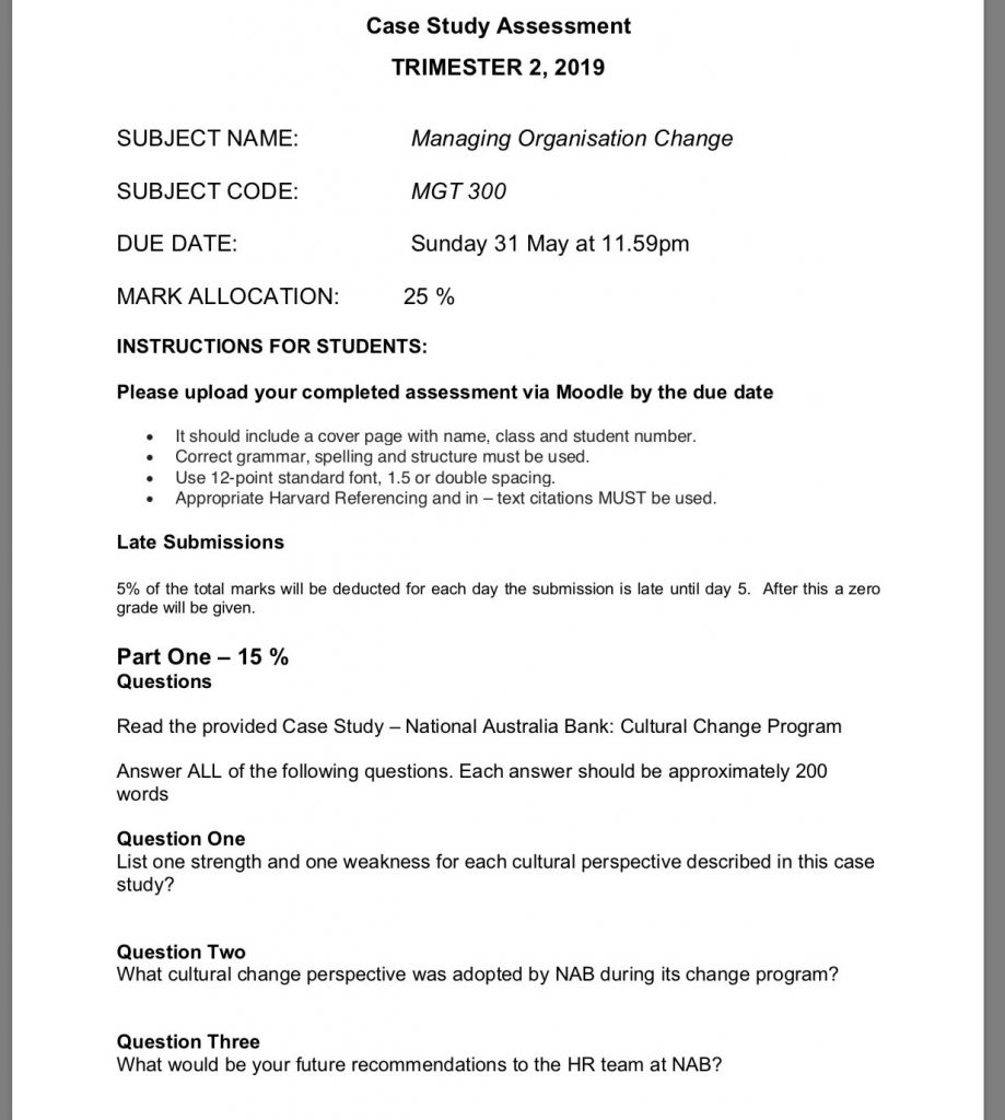 Case Study Snackbrands Australia: MGT300: Managing Organisation