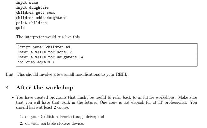 2807/7001ICT - IT - Programming Principles - Computer Science